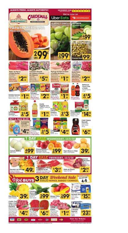 Los Altos Ranch Market - deals are valid from 12/02/20 to 12/08/20 - page 1.