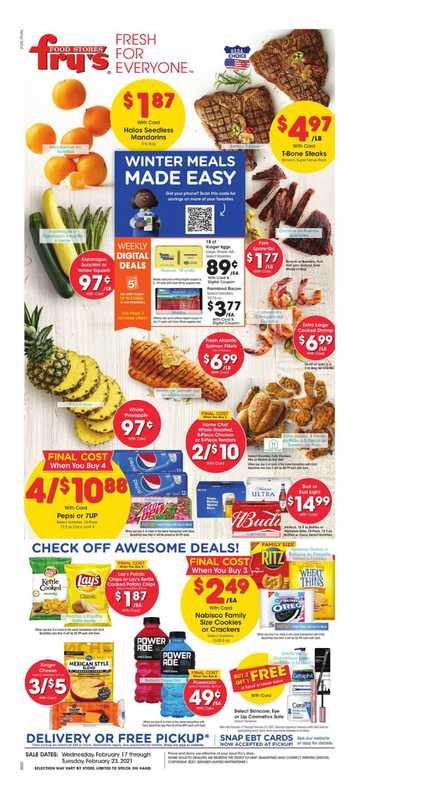 Fry's Food - deals are valid from 02/17/21 to 02/23/21 - page 1.