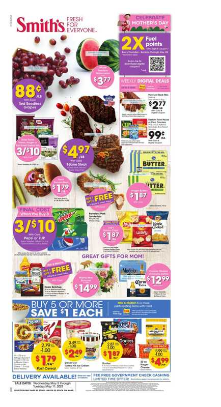 Smith's - deals are valid from 05/05/21 to 05/11/21 - page 1.
