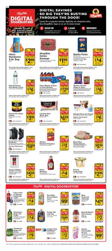 ShopRite - deals are valid from 08/01/21 to 08/07/21 - page 1.