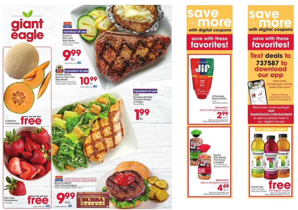 Giant Eagle - deals are valid from 07/22/21 to 07/28/21 - page 1.