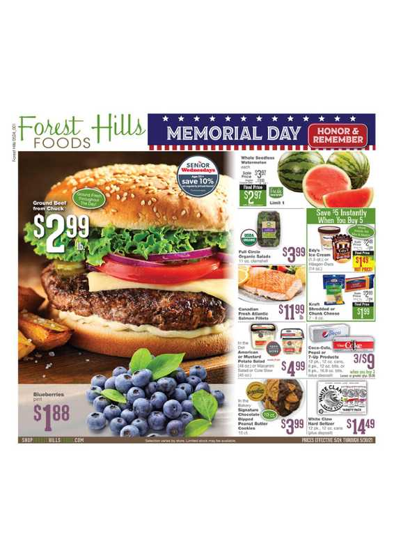 Forest Hills Foods - deals are valid from 05/24/21 to 05/30/21 - page 1.