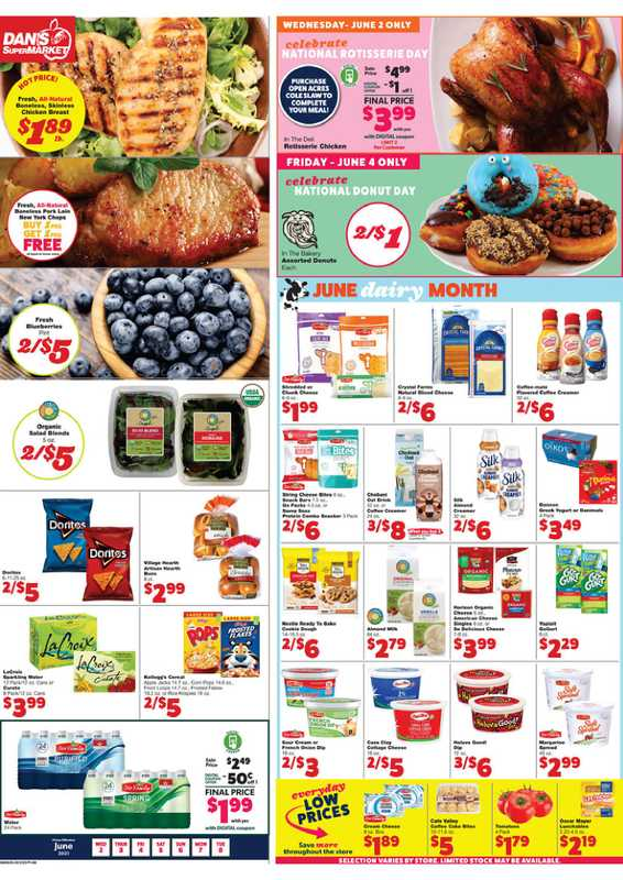 Dan's Market - deals are valid from 06/02/21 to 06/08/21 - page 1.