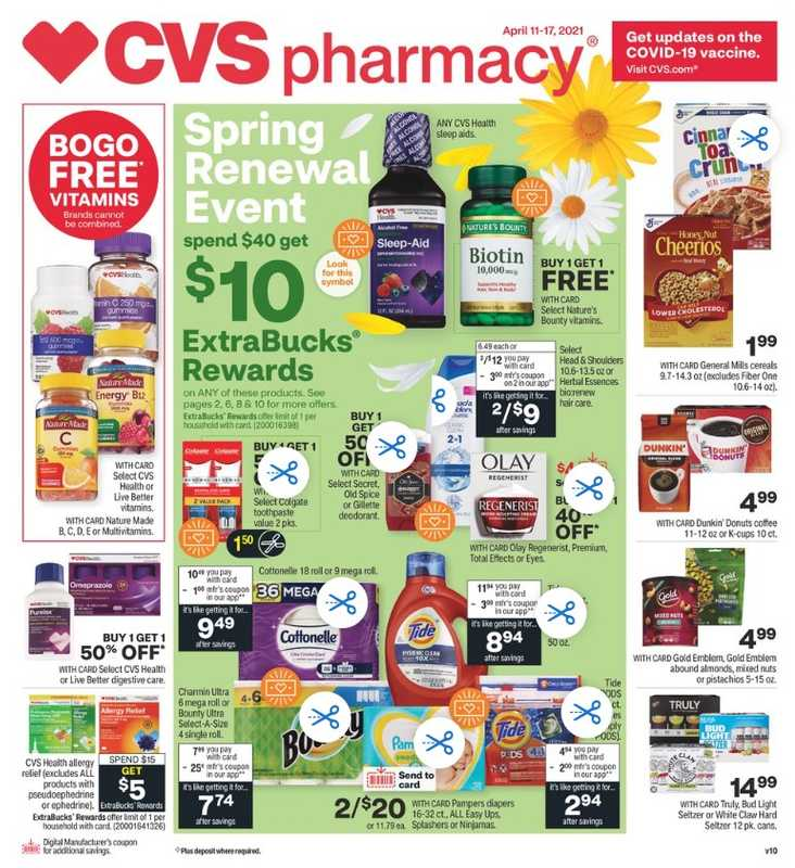 CVS - deals are valid from 04/11/21 to 04/18/21 - page 1.