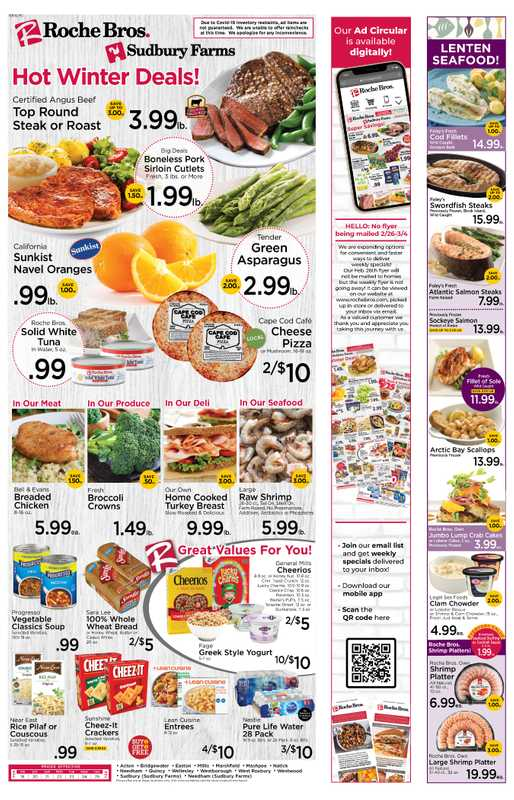Roche Bros. - deals are valid from 02/19/21 to 02/25/21 - page 1.