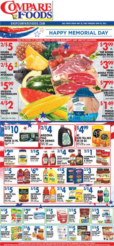 Compare Foods - deals are valid from 05/28/21 to 06/03/21 - page 1.