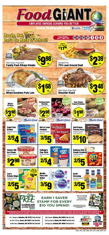 Food Giant - deals are valid from 07/28/21 to 08/03/21 - page 1.
