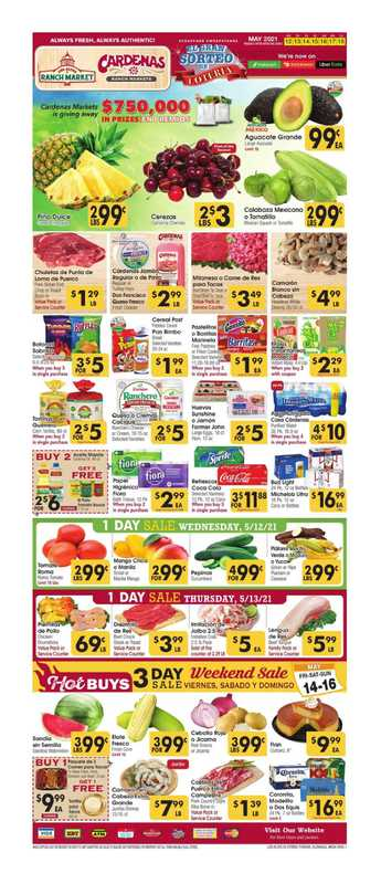 Cardenas - deals are valid from 05/12/21 to 05/18/21 - page 1.