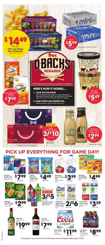 Fry's Food - deals are valid from 07/28/21 to 08/03/21 - page 1.