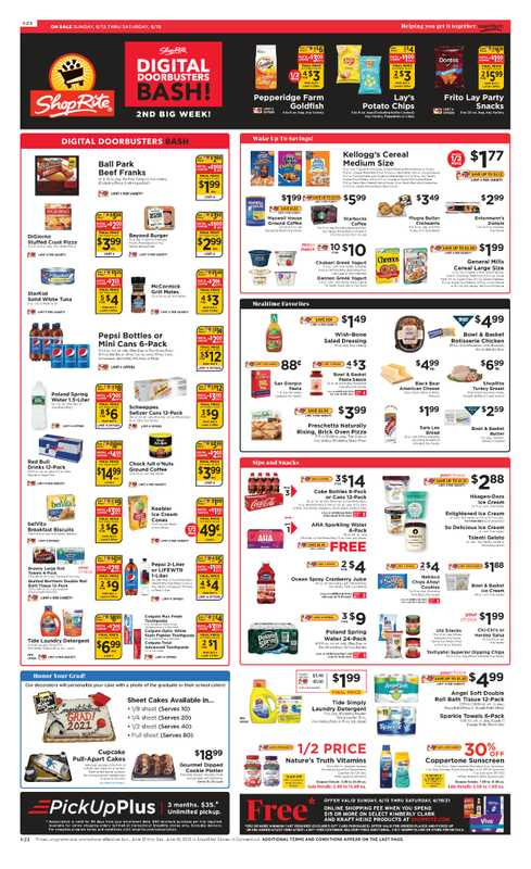 ShopRite - deals are valid from 06/13/21 to 06/19/21 - page 1.