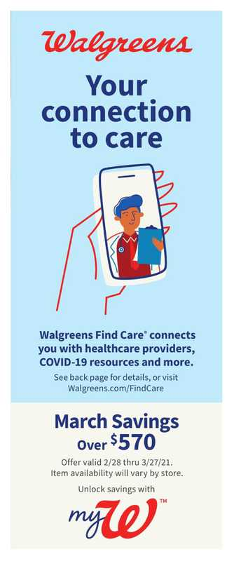 Walgreens - deals are valid from 02/28/21 to 03/27/21 - page 1.