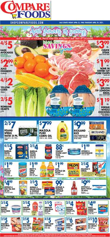 Compare Foods - deals are valid from 04/23/21 to 04/29/21 - page 1.