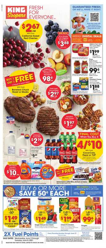King Soopers - deals are valid from 06/02/21 to 06/08/21 - page 1.