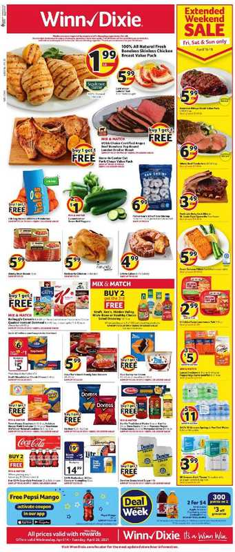 Winn Dixie - deals are valid from 04/14/21 to 04/20/21 - page 1.