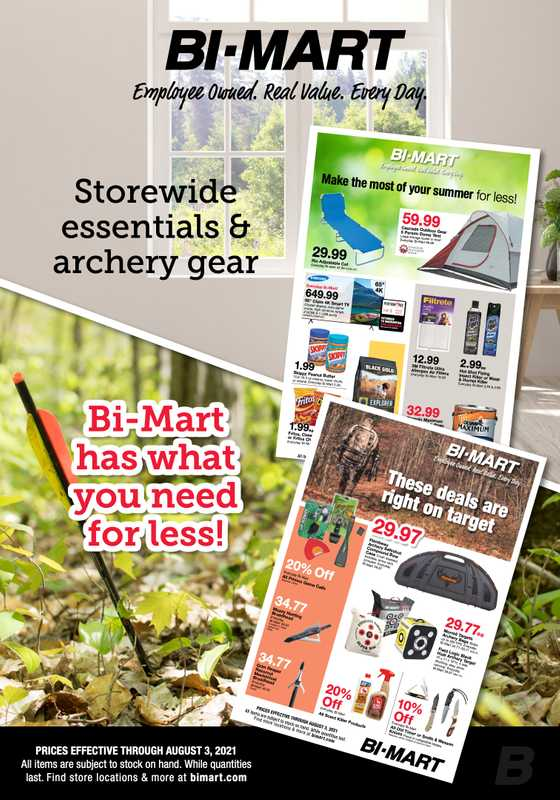 Bi-Mart - deals are valid from 07/21/21 to 08/03/21 - page 1.