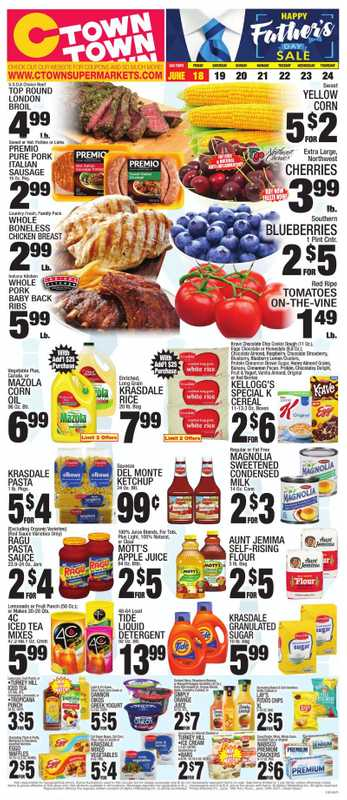 C-Town - deals are valid from 06/18/21 to 06/24/21 - page 1.