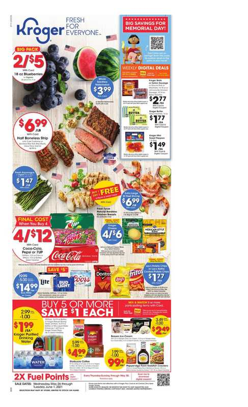 Kroger - deals are valid from 05/26/21 to 06/01/21 - page 1.