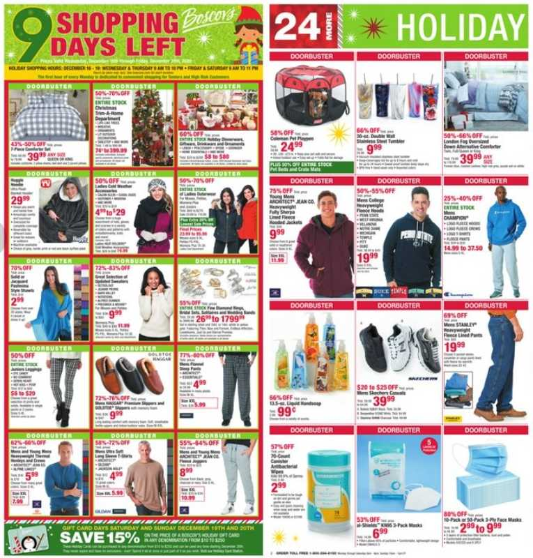 Boscov's - deals are valid from 12/16/20 to 12/25/20 - page 1.