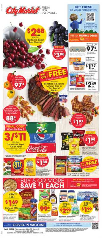 City Market - deals are valid from 05/19/21 to 05/25/21 - page 1.