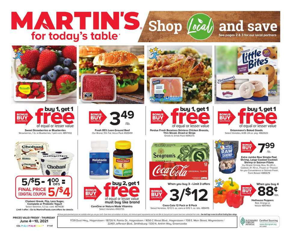 Martin's - deals are valid from 06/04/21 to 06/10/21 - page 1.