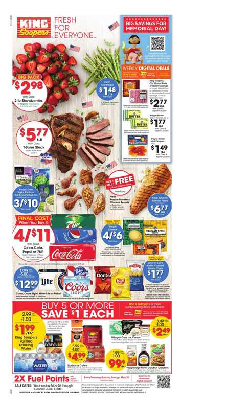 King Soopers - deals are valid from 05/26/21 to 06/01/21 - page 1.
