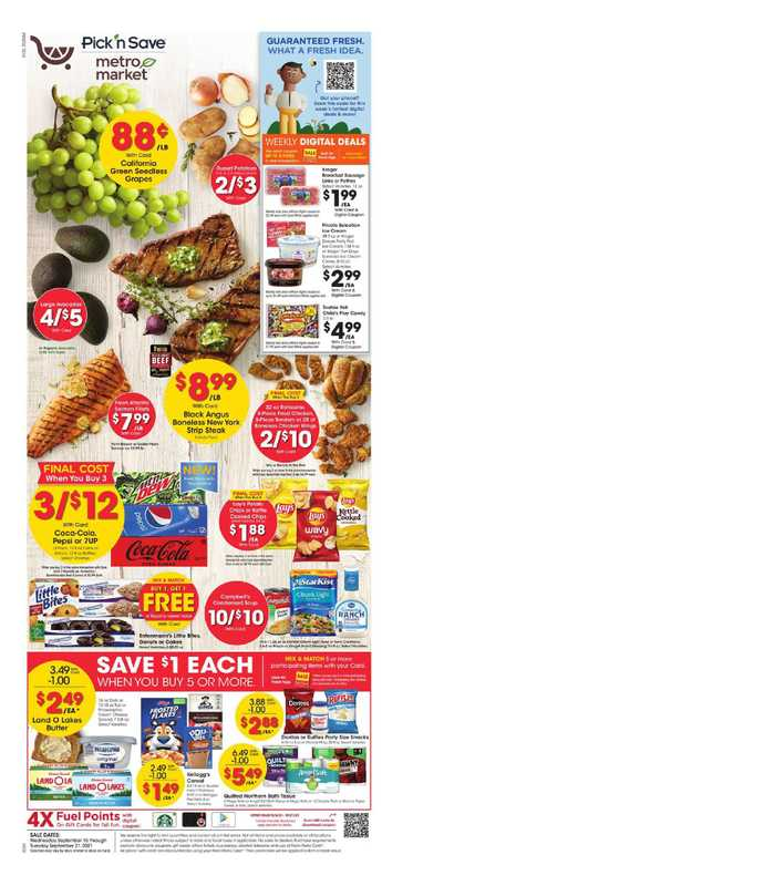 Pick n Save - deals are valid from 09/15/21 to 09/21/21 - page 1.