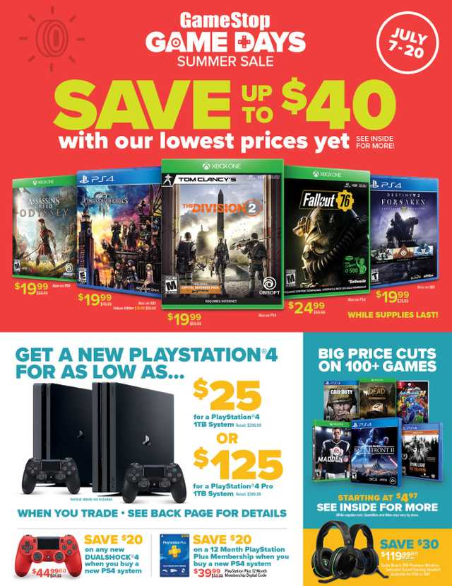 GameStop - promo starting from 2019-07-07 - page 1