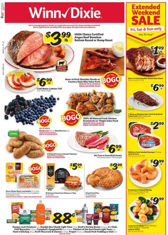 Winn Dixie - deals are valid from 07/28/21 to 08/03/21 - page 1.