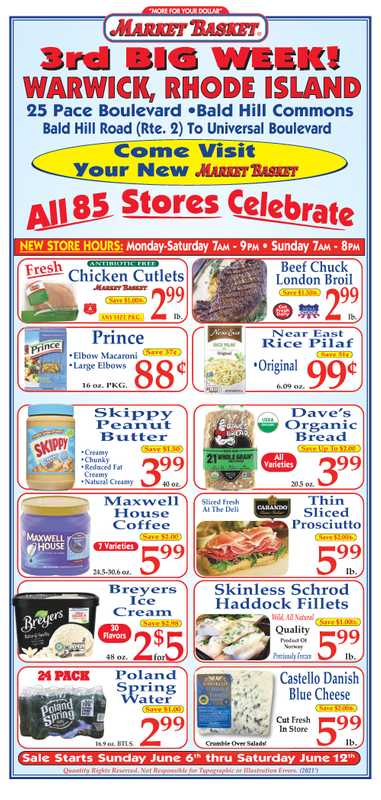 Market Basket - deals are valid from 06/06/21 to 06/12/21 - page 1.
