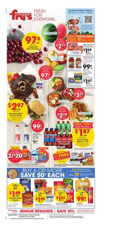 Fry's Food - deals are valid from 06/02/21 to 06/08/21 - page 1.