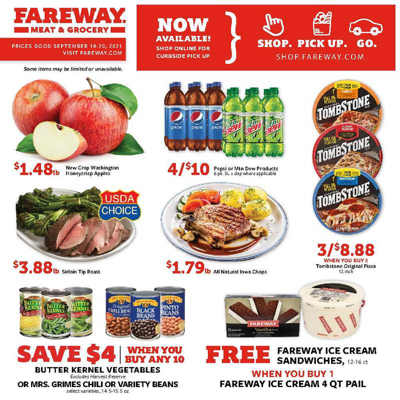 Fareway - deals are valid from 09/14/21 to 09/20/21 - page 1.