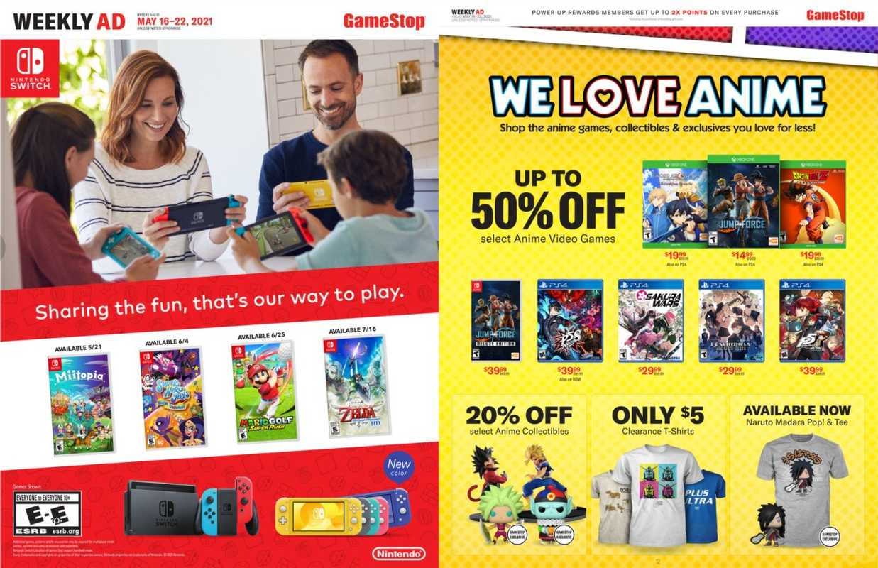 GameStop - deals are valid from 05/16/21 to 05/22/21 - page 1.