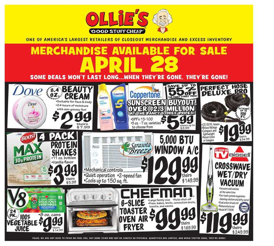 Ollie's Bargain Outlet - deals are valid from 04/28/21 to 05/05/21 - page 1.