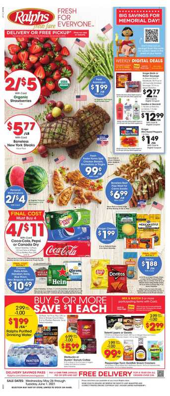 Ralphs - deals are valid from 05/26/21 to 06/01/21 - page 1.