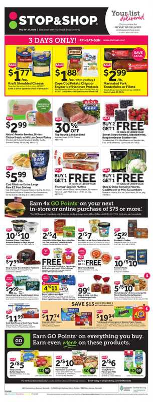 Stop & Shop - deals are valid from 05/21/21 to 05/27/21 - page 1.