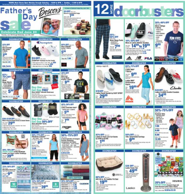 Boscov's - deals are valid from 06/10/21 to 06/16/21 - page 1.