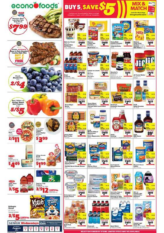 Econofoods - deals are valid from 08/01/21 to 08/07/21 - page 1.