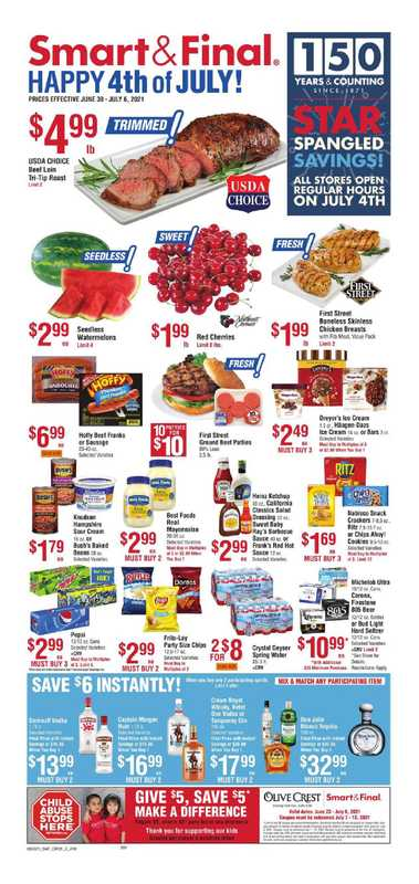 Smart & Final - deals are valid from 06/30/21 to 07/06/21 - page 1.