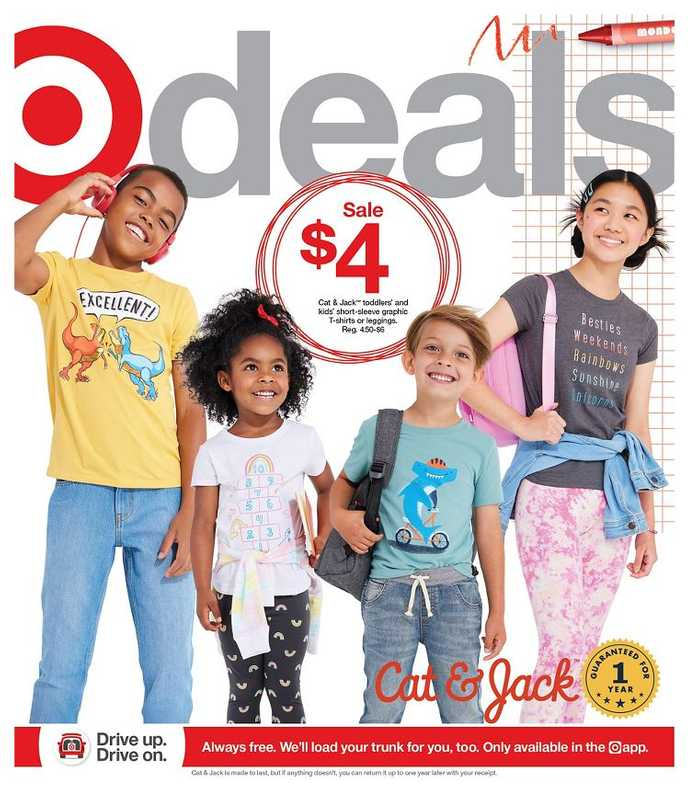 Target - deals are valid from 08/01/21 to 08/07/21 - page 1.