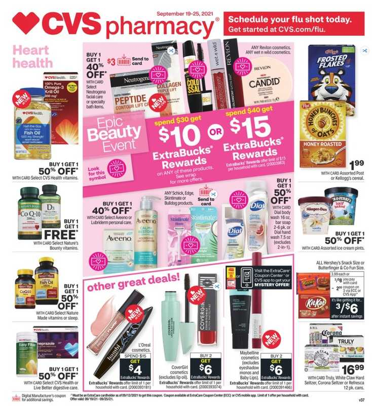 CVS - deals are valid from 09/19/21 to 09/25/21 - page 1.