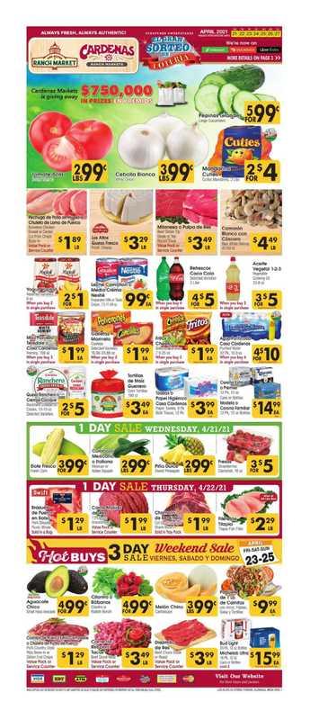 Los Altos Ranch Market - deals are valid from 04/21/21 to 04/27/21 - page 1.