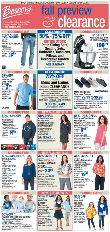 Boscov's - deals are valid from 08/16/19 to 08/25/19 - page 1.