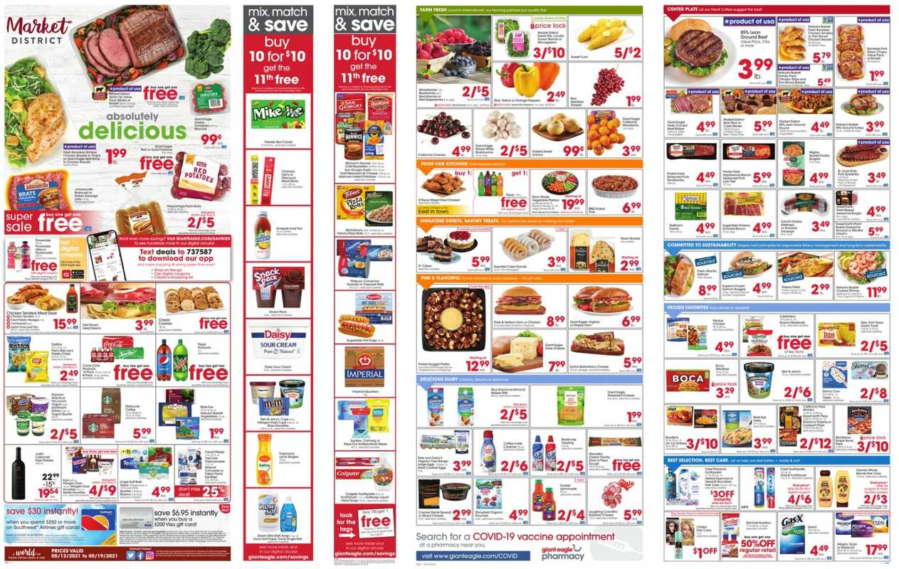 Market District - deals are valid from 05/13/21 to 05/19/21 - page 1.