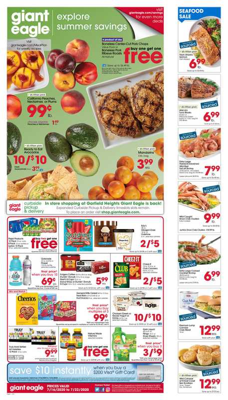 Market District - deals are valid from 07/16/20 to 07/22/20 - page 1.