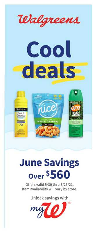 Walgreens - deals are valid from 05/30/21 to 06/26/21 - page 1.
