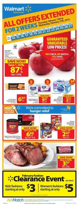 Walmart - deals are valid from 02/14/19 to 02/27/19 - page 1.