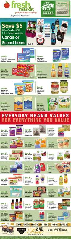 Fresh Market Stores - deals are valid from 09/01/21 to 09/30/21 - page 1.