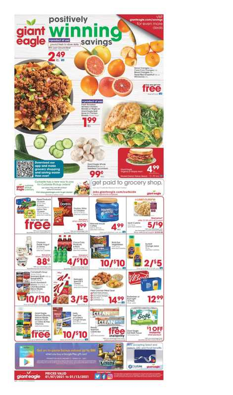 Giant Eagle - deals are valid from 01/07/21 to 01/13/21 - page 1.