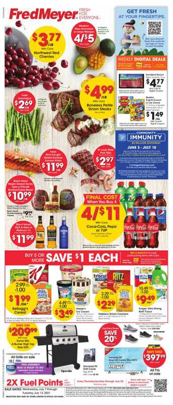 Fred Meyer - deals are valid from 07/07/21 to 07/13/21 - page 1.