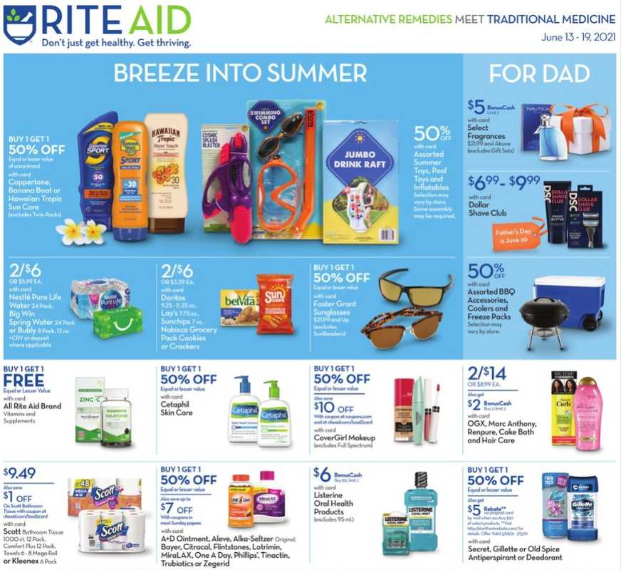 Rite Aid - deals are valid from 06/13/21 to 06/19/21 - page 1.